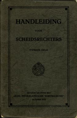 Handleiding scheidsrechters - uitgave 1935