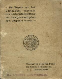 De regels van het voetbalspel - uitgave 1907