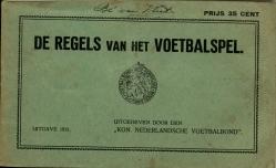De Regels van het Voetbalspel - uitgave 1931