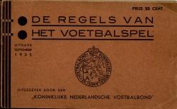 De Regels van het Voetbalspel - uitgave 1935