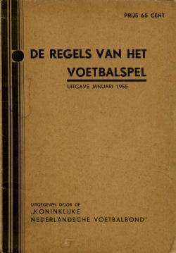De regels van het voetbalspel - uitgave 1955