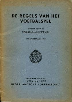 De regels van het voetbalspel - uitgave 1961