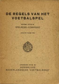De regels van het voetbalspel - uitgave 1962