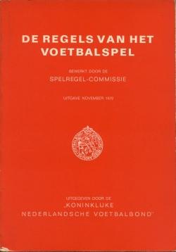 De regels van het voetbalspel - uitgave 1970