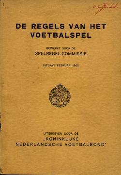 De Regels van het voetbalspel - uitgave 1965