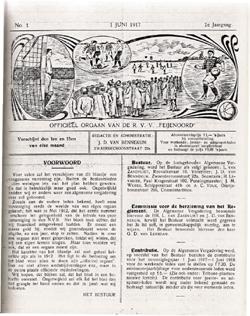 Cover van de eerste De Feijenoorder ooit
