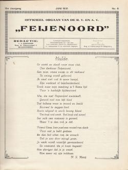 De Feijenoorder juni 1931