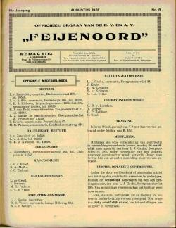 De Feijenoorder Augustus 1931