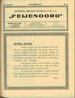 De Feijenoorder September 1931