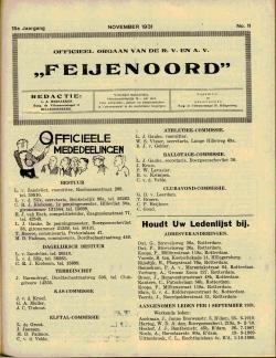 De Feijenoorder November 1931