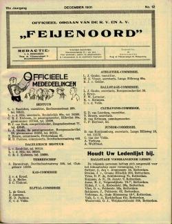 De Feijenoorder December 1931