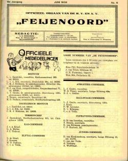 De Feijenoorder Juni 1932