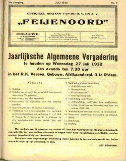 De Feijenoorder Juli 1932