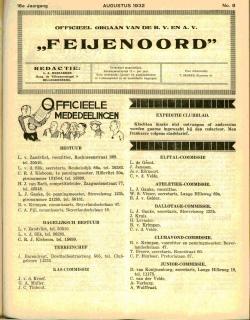 De Feijenoorder Augustus 1932