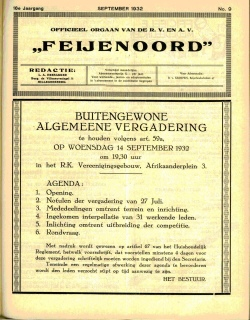 De Feijenoorder September 1932