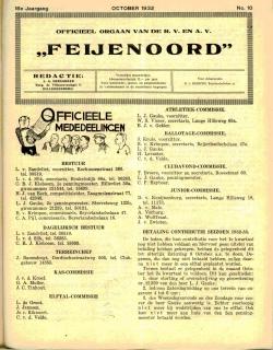 De Feijenoorder November 1932