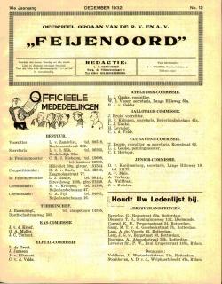 De Feijenoorder December 1932