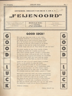 De Feijenoorder Januari 1933