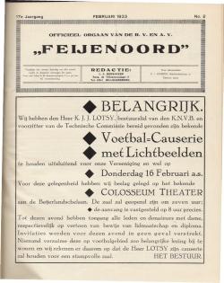 De Feijenoorder Februari 1933