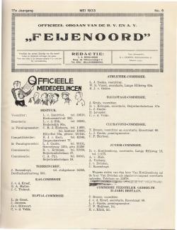 De Feijenoorder Mei 1933