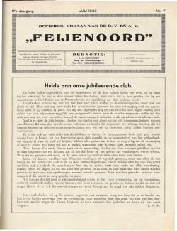 De Feijenoorder Juli 1933