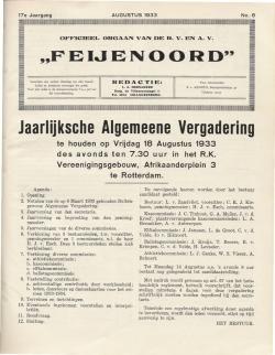De Feijenoorder Augustus 1933
