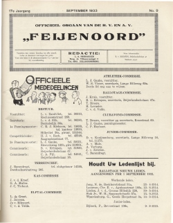 De Feijenoorder September 1933