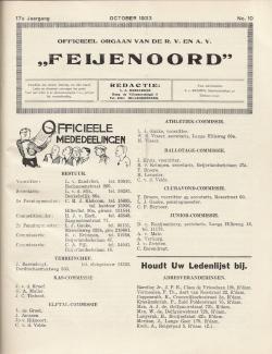 De Feijenoorder Oktober 1933