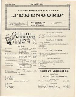 De Feijenoorder November 1933