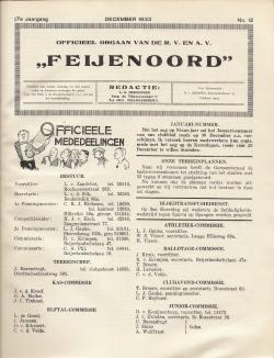 De Feijenoorder December 1933