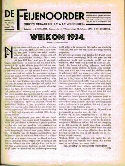 De Feijenoorder Januari 1934