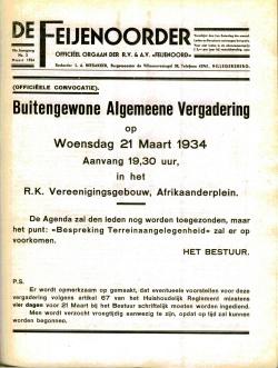 De Feijenoorder Maart 1934