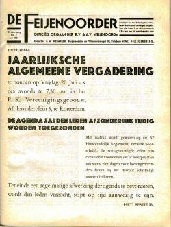 De Feijenoorder Juli 1934