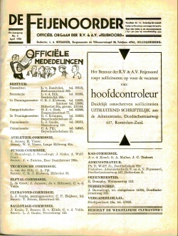 De Feijenoorder April 1935