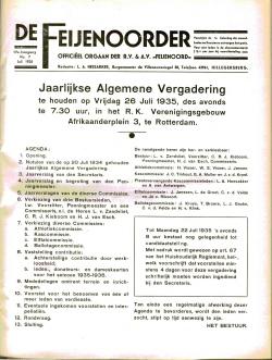 De Feijenoorder Juli 1935