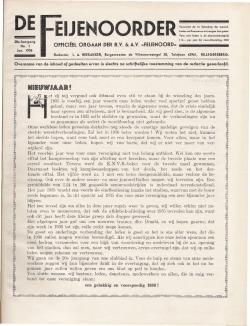 De Feijenoorder Januari 1936