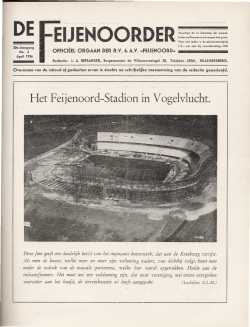 De Feijenoorder April 1936