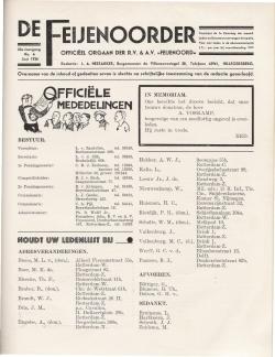 De Feijenoorder Juni 1936