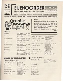 De Feijenoorder Augustus 1936