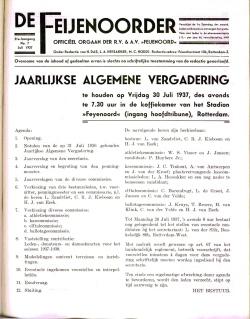 De Feijenoorder Juli 1937