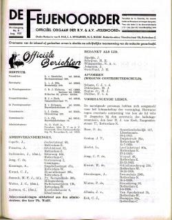 De Feijenoorder Augustus 1937
