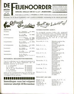 De Feijenoorder November 1937