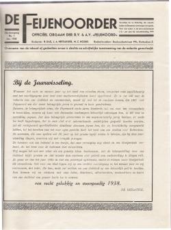 De Feijenoorder Januari 1938