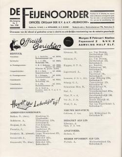 De Feijenoorder Februari 1938