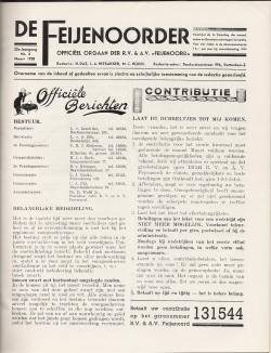De Feijenoorder Maart 1938