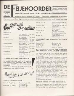 De Feijenoorder Augustus 1938