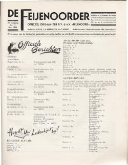 De Feijenoorder November 1938