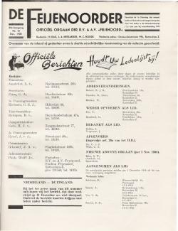 De Feijenoorder December 1938