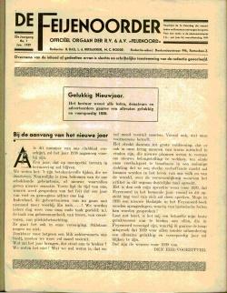 De Feijenoorder Januari 1939