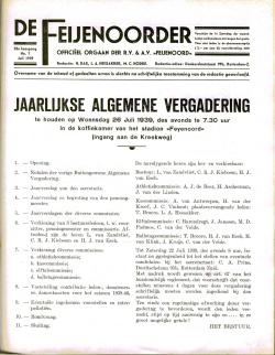 De Feijenoorder Juli 1939